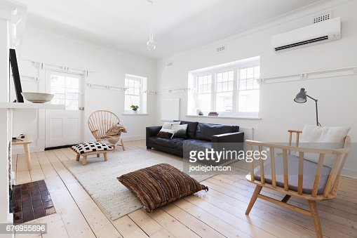 Renovated old and spacious apartment with beautiful Scandi styling : Stock Photo