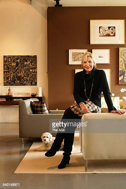 Renovation column pic shows designer Linda Cochrane and her South Yarra townhouse 12 July 2006 THE AGE DOMAIN Picture by SIMON SCHLUTER