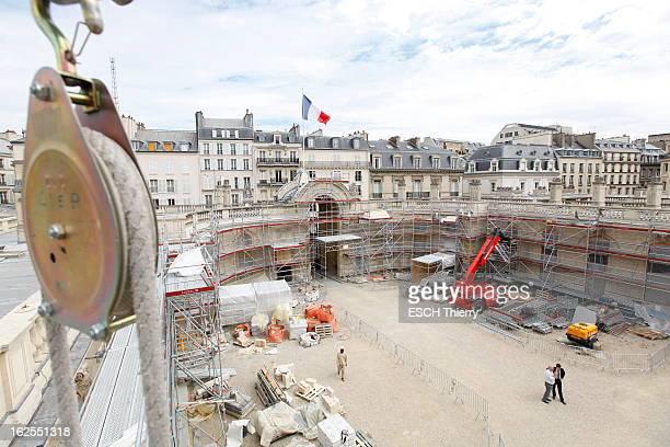 Renovation Of The Elysee Palace In Paris Paris 4 août 2011 la rénovation du palais de l'Elysée Commencés fin juillet les travaux devront être achevés...