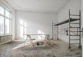 renovation - old flat during renovation  / restoration -