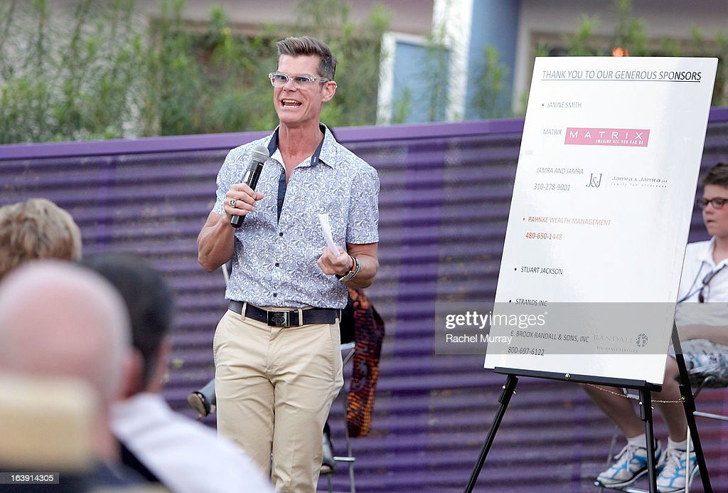 Renowned Beverly Hills hairstylist Lenny Strand speaks during the Anti Bullying Discussion at the Bash To Banish Bullying Benefiting It Gets Better, a Matrix Chairs Of Change Event - Day 1 at Saguaro Hotel on March 16, 2013 in Palm Springs, California.