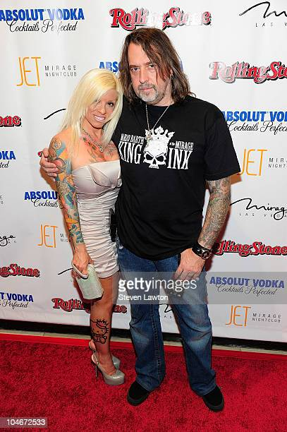 Renowned tattoo artist Mario Barth and wife Carol Barth arrive at the Rolling Stone Hot Party at the Jet Nightclub at The Mirage Hotel Casino on...