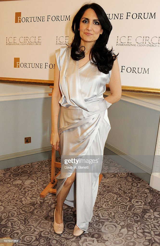 Renu Mehta, Founder of Fortune Forum, attends a cocktail reception at the 4th Fortune Forum Summit held at The Dorchester on December 4, 2012 in London, England.