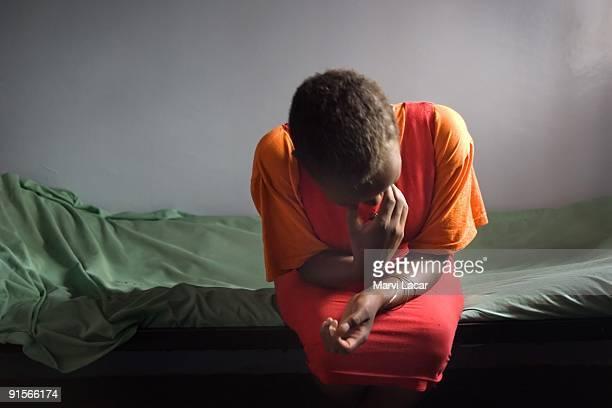 Renu Regina Masiaine tearfully explains her reason for going to the Tasaru Safehouse for Girls December 20 2006 in Narok Kenya The Tasaru Safehouse...