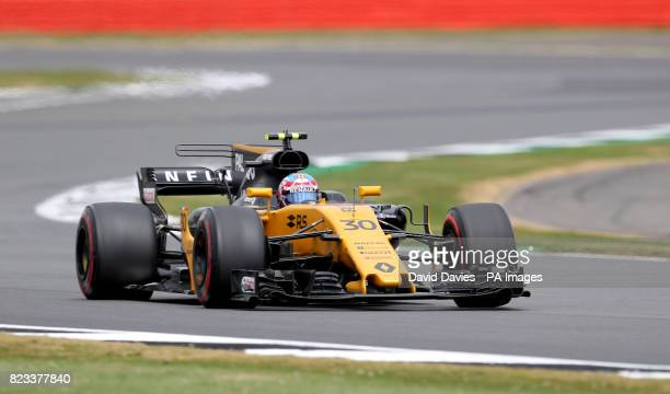 Renualt Jolyon Palmer during second practice of the 2017 British Grand Prix at Silverstone Circuit Towcester