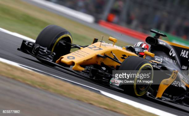 Renualt Nico Hulkenberg during second practice of the 2017 British Grand Prix at Silverstone Circuit Towcester
