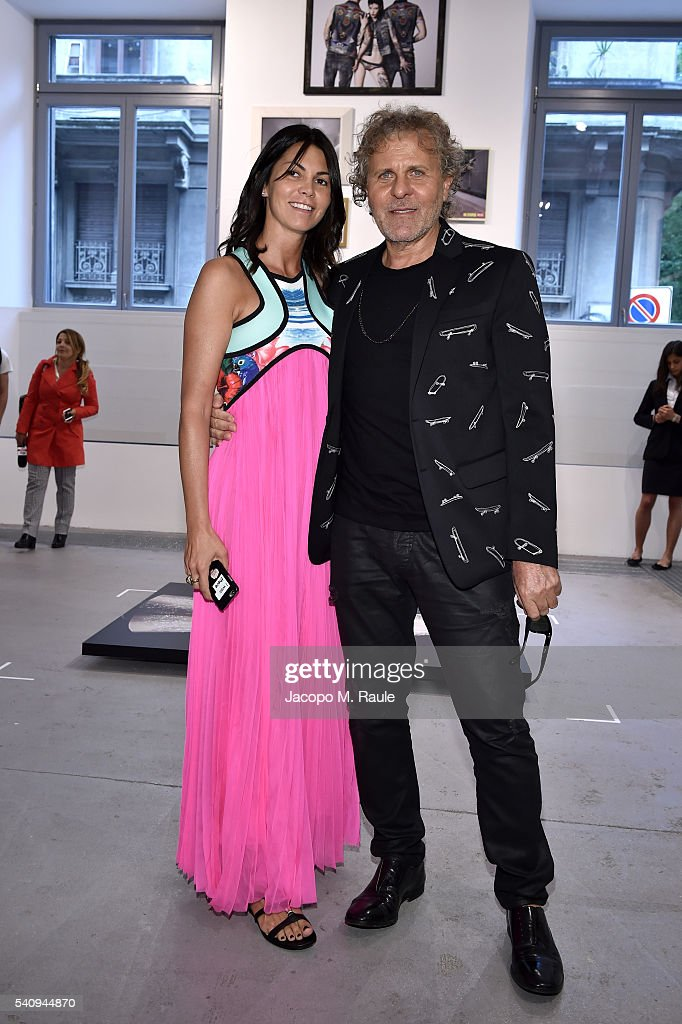 Renzo Rosso and Arianna Alessi attend Renzo Rosso And OTB Launch 'Radical Renaissance 555' Book on June 17 2016 in Milan Italy