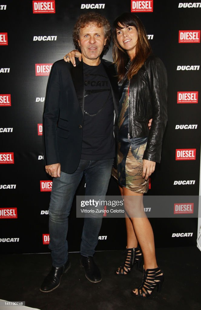 Renzo Rosso and Arianna Alessi attend the 'Diesel Together With Ducati' cocktail party on March 22 2012 in Rome Italy