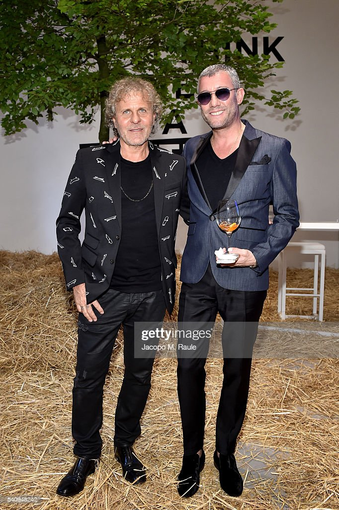 Renzo Rosso and guest attend Renzo Rosso And OTB Launch 'Radical Renaissance 555' Book on June 17 2016 in Milan Italy