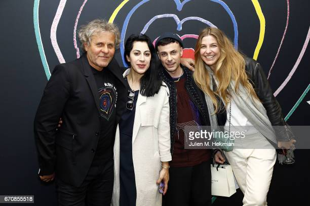 Renzo Rosso and Guests attend Fashion For Relief 'Child At Heart' cocktail party on April 20 2017 in Paris France The 'Child At Heart' collection...