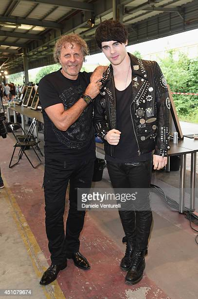 Renzo Rosso and Leon Else attend the Diesel Black Gold Show as part of Milan Fashion Week Menswear Spring/Summer 2015 on June 23 2014 in Milan Italy