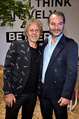Renzo Rosso and Remo Ruffini attend Renzo Rosso And OTB Launch 'Radical Renaissance 555' Book on June 17 2016 in Milan Italy