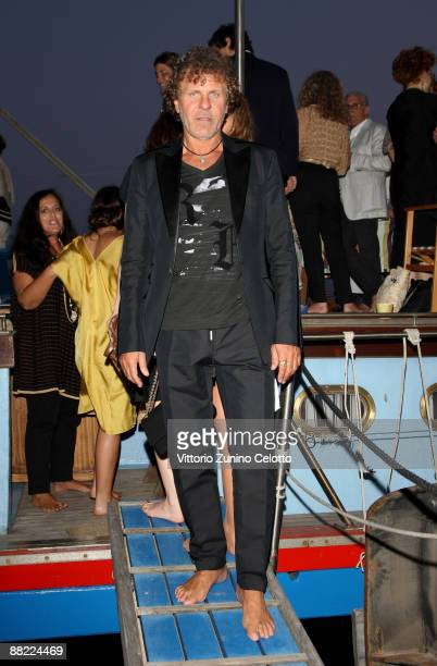 Renzo Rosso attend the Bruce Nauman dinner party hosted by Missoni on the boat 'Timoteo' during the 2009 Venice Biennale on June 4 2009 in Venice...