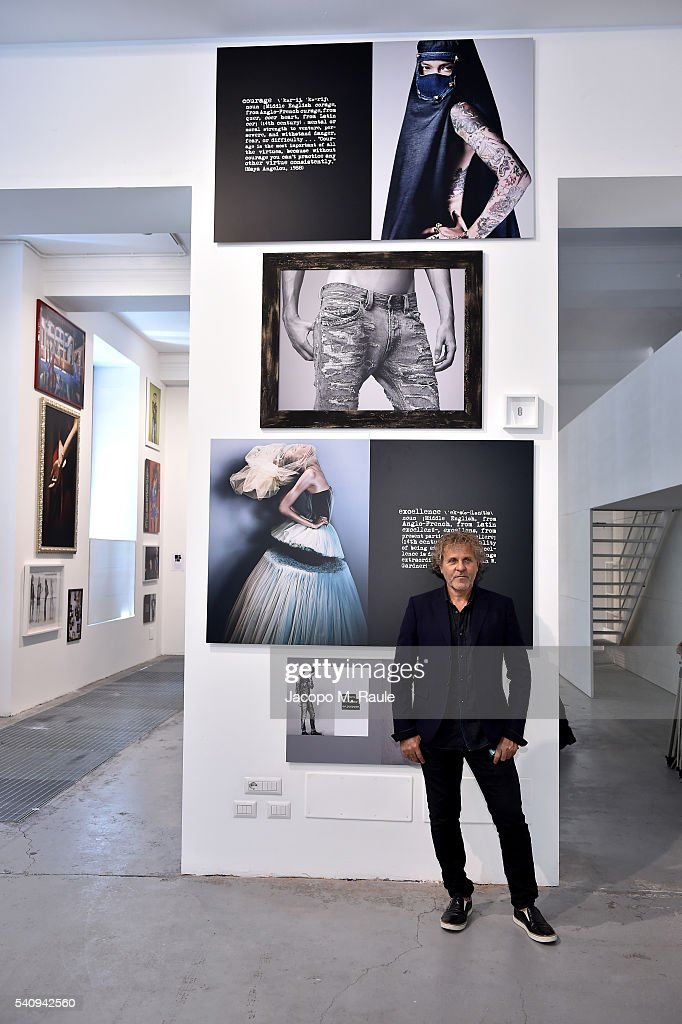 Renzo Rosso attends Renzo Rosso And OTB Launch 'Radical Renaissance 555' Book on June 17 2016 in Milan Italy