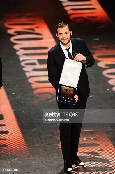 Renzo Rubino attends fourth night of the 64th Festival di Sanremo 2014 at Teatro Ariston on February 21 2014 in Sanremo Italy