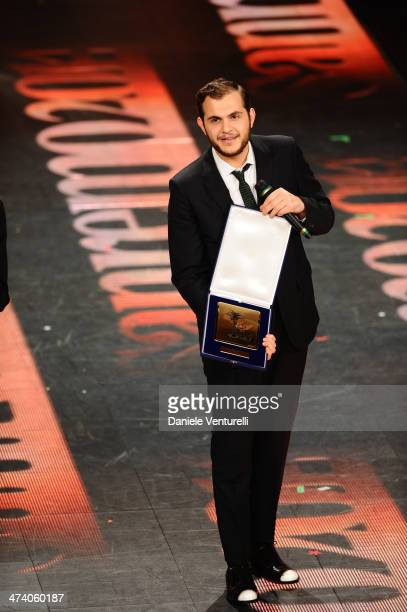 Renzo Rubino attends fourth night of the 64th Festival di Sanremo 2014 at Teatro Ariston on February 21 2014 in Sanremo Italy