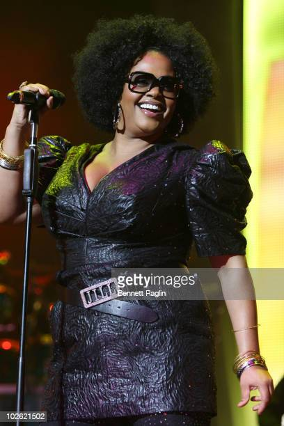 Reocrding artist Jill Scott performs during the 2010 Essence Music Festival at the Louisiana Superdome on July 4 2010 in New Orleans Louisiana