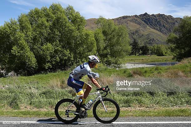 Reon Nolan of Christchurch makes his to Coronet Peak from Mossburn during stage three of the 2016 Tour of Southland on November 02 2016 in...