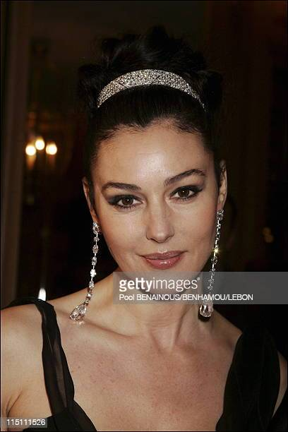 ReOpening Party Quarter 13th La paix street in Paris France on December 13 2005 Monica Bellucci