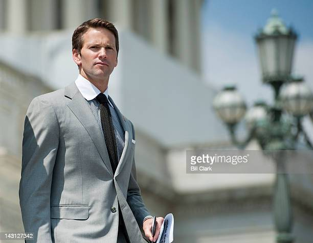 Rep Aaron Schock RIll walks down the House steps following a series of votes on Thursday April 19 2012