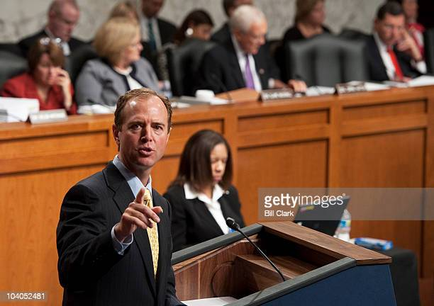 Rep Adam Schiff DCalif who heads the fivemember House team serving as prosecutors for the impeachment trial of G Thomas Porteous Jr US District Court...
