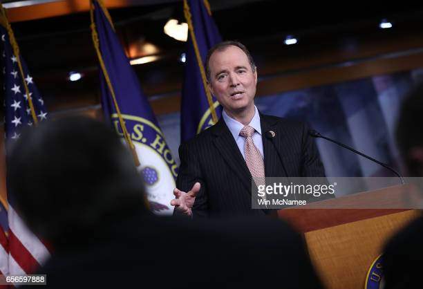 Rep Adam Schiff ranking member of the House Permanent Select Committee on Intelligence responds to committee chairman Devin Nunes's comments earlier...