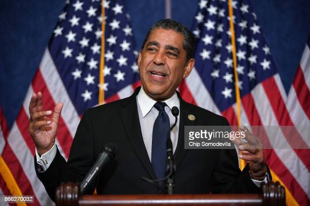 Rep Adriano Espaillat speaks during a news conference with fellow Democrats 'Dreamers' and university presidents and chancellors to call for passage...