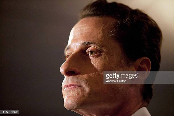 Rep Anthony Weiner admits to having numerous sexual relationships online while married during a press conference at the Sheraton Hotel on 7th Avenue...