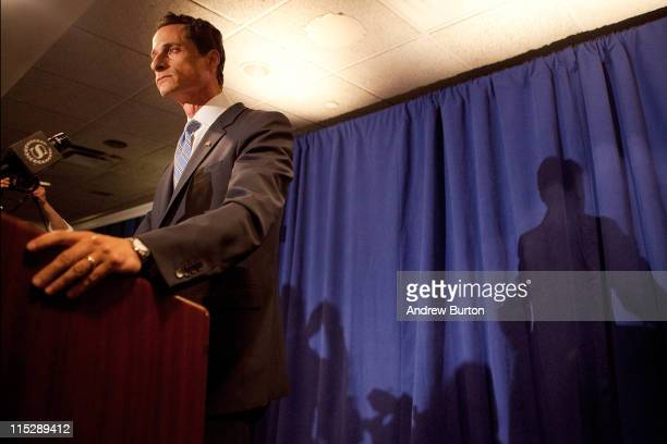 Rep Anthony Weiner admits to sending a lewd Twitter photo of hi2mself to a woman and then lying about it during a press conference at the Sheraton...