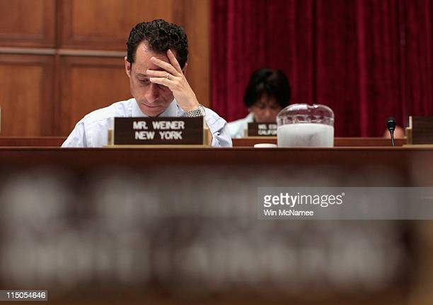 Rep Anthony Weiner attends a House markup on Capitol Hill June 2 2011 in Washington DC Weiner declined to comment further this morning on the recent...