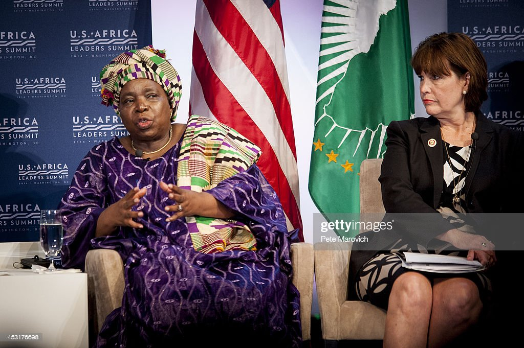U.S. Rep. Betty McCollum (D-MN) looks on as Nkosazana Clarise Dlamini Zuma, chairperson of the African Union Commission, speaks at the Resilience and Food Security in Changing Climate Forum at the National Academy of Sciences as part of the first U.S.-Africa Leaders Summit on August 4, 2014 in Washington, DC. The event brings together U.S. and African government leaders, members of African and U.S. civil society and the diaspora, and private sector leaders, focusing on using the knowledge and experience of citizens and civil society to solve the key challenges of our time.