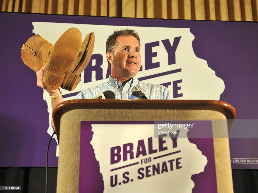 U.S. Rep. Bruce Braley (D-IA) campaigns on October 19, 2014 in Des Moines, Iowa. Braley is in a tight race for a Senate seat against Republican challenger Joni Ernst.