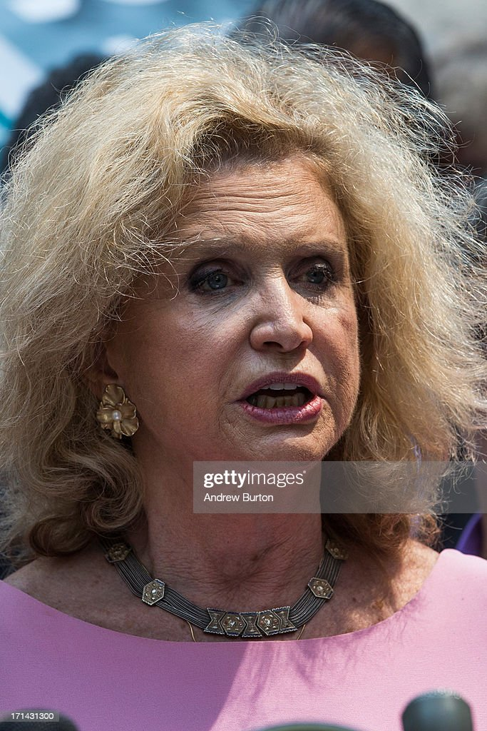U.S. Rep. Carolyn Maloney (D-NY) speaks at a press conference announcing the 100-day deadline for people whose health has been affected by the September 11 attacks to file for economic compensation through the '9/11 James Zadroga Act's Victim's Compensation Fund' on June 24, 2013 in New York City. The deadline for filing is October 3, 2013.