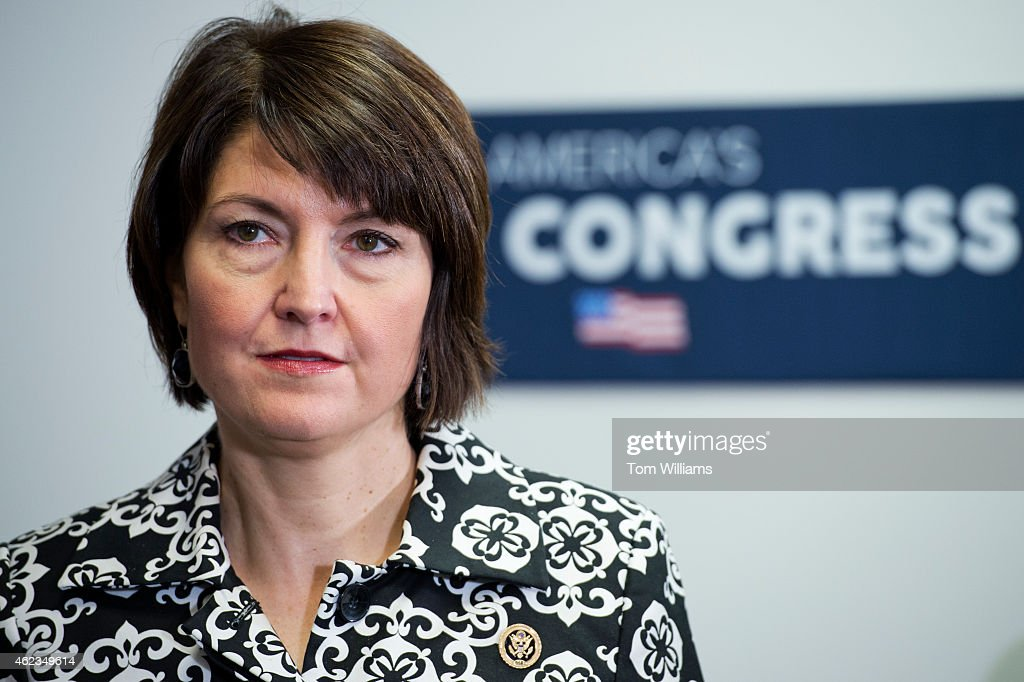 Rep. <a gi-track='captionPersonalityLinkClicked' href=/galleries/search?phrase=Cathy+McMorris+Rodgers&family=editorial&specificpeople=5685653 ng-click='$event.stopPropagation()'>Cathy McMorris Rodgers</a>, R-Wash., attends a news conference after a meeting of the House Republican Conference in the Capitol, January 27, 2015.