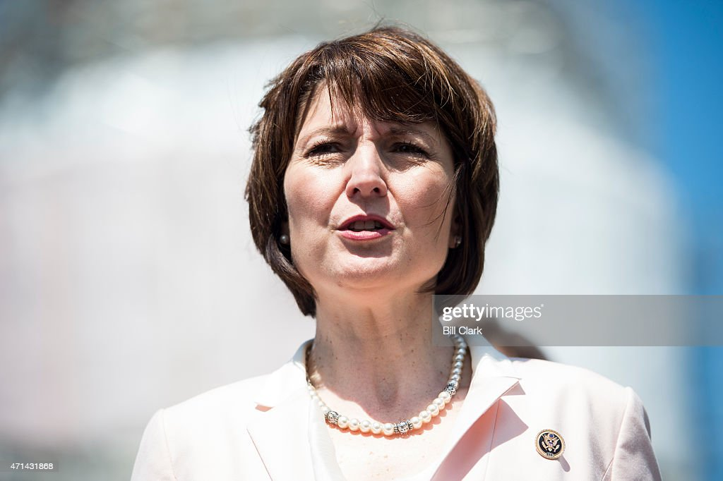 Rep. Cathy McMorris Rodgers, R-Wash., participates in the news conference on Food and Drug Administration menu labeling regulations on Tuesday, April 28, 2015.
