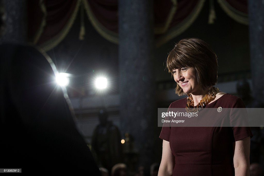 Rep. <a gi-track='captionPersonalityLinkClicked' href=/galleries/search?phrase=Cathy+McMorris+Rodgers&family=editorial&specificpeople=5685653 ng-click='$event.stopPropagation()'>Cathy McMorris Rodgers</a> (R-WA) waits for the start of a Women's History Month reception in honor of women veterans on Capitol Hill, March 2, 2016 in Washington, DC. After being petitioned by the National Women's History Project, Congress passed a joint resolution in 1987 which designated the month of March as Women's History Month.