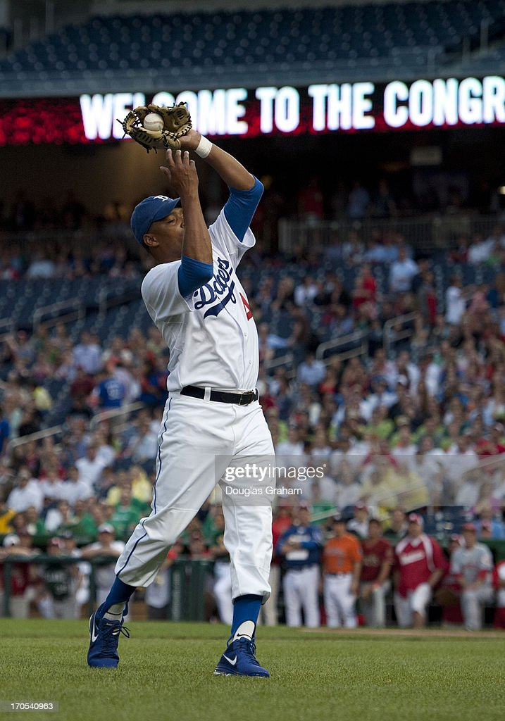 Rep. Cedric Richmond during action in the 52nd annual Congressional Baseball Game at National Stadium in Washington on Thursday, June 13, 2013.