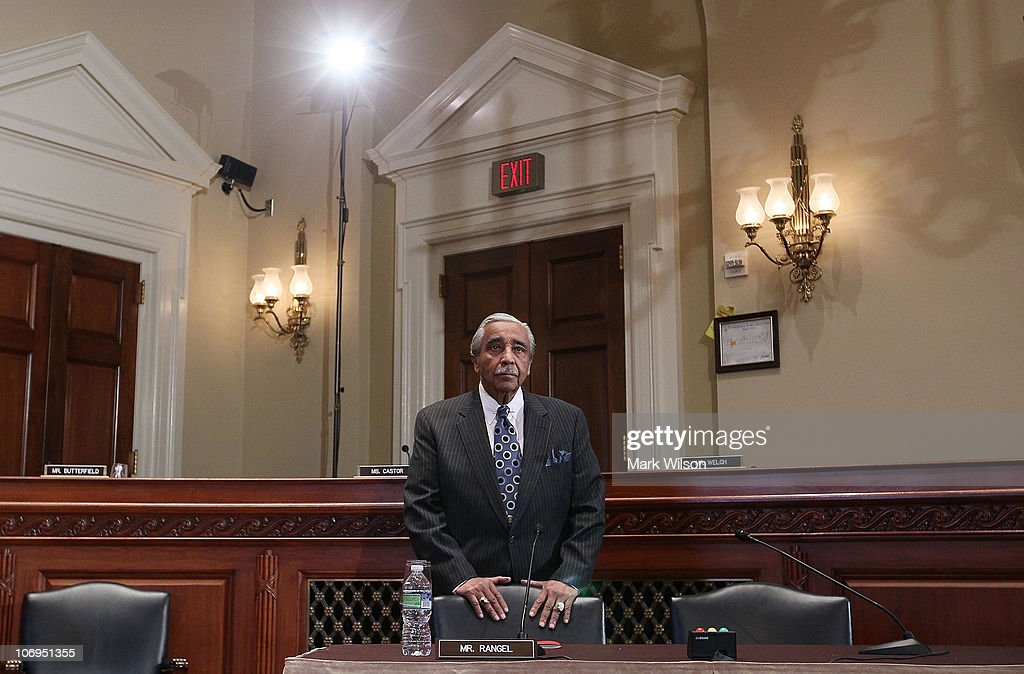 U.S. Rep. Charlie Rangel (D-NY) arrives at a House Committee on Standards of Official Conduct hearing on November 18, 2010 in Washington, DC. During the hearing Rangel will hear what punishment he will receive after being convicted of 11 ethics violations on Tuesday.