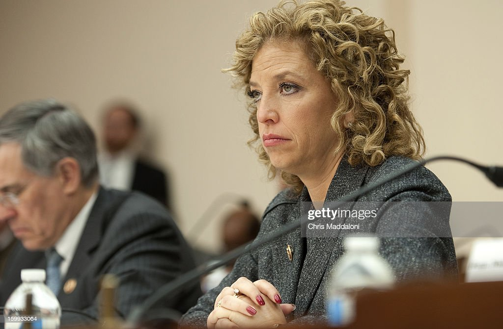 Rep. Debbie Wasserman Schultz, D-Fl., at a Congressional Gun Violence Prevention Task Forcehearing on the comprehensive steps that Congress can take to reduce gun violence - while also respecting the 2nd Amendment rights of law-abiding citizens.