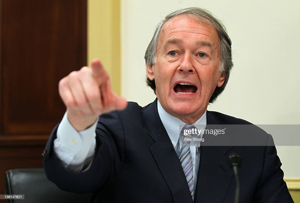 U.S. Rep. Ed Markey (D-MA) speaks during a hearing on the Keystone XL pipeline before the Energy and Power Subcommittee of the House Energy and Commerce Committee February 3, 2012 on Capitol Hill in Washington, DC. Rep. Markey said he and other House Democrats were introducing a bill to ensure that the oil and the refined fuel from the Keystone XL pipeline project will be sold in the U.S.