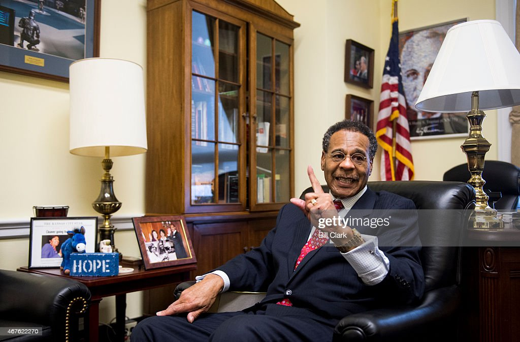 Rep. <a gi-track='captionPersonalityLinkClicked' href=/galleries/search?phrase=Emanuel+Cleaver&family=editorial&specificpeople=754349 ng-click='$event.stopPropagation()'>Emanuel Cleaver</a>, D-Mo., speaks with Roll Call in his office in the Rayburn House Office Building on Wednesday, March 25, 2015.