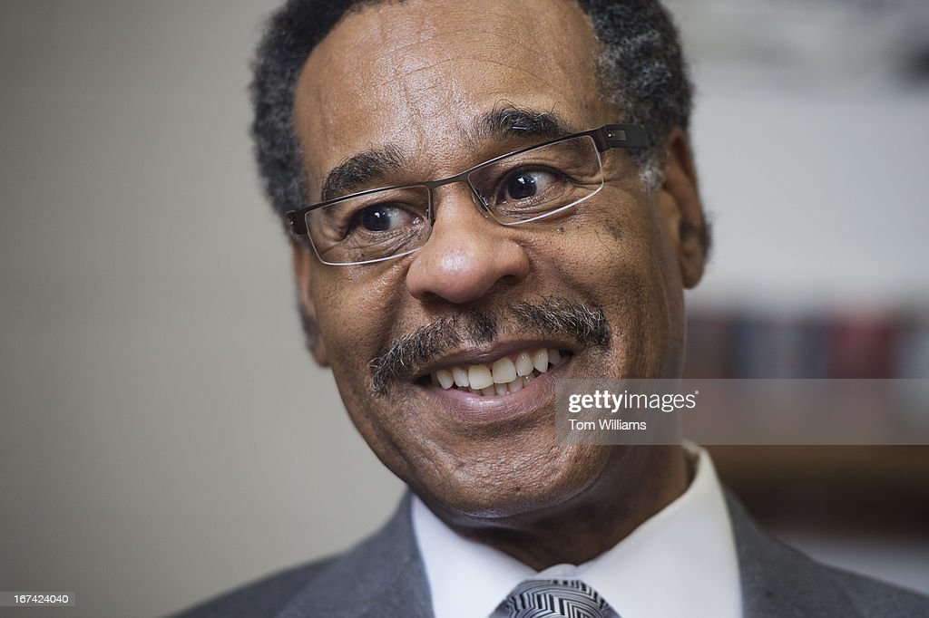 Rep. Emanuel Cleaver, D-Mo., visits DC Brau brewery in Northeast. Cleaver went to the brewery to check out a mural by artist Hannah Dean that was inspired by one of his 'civility letters' and features a lion and a tiger.
