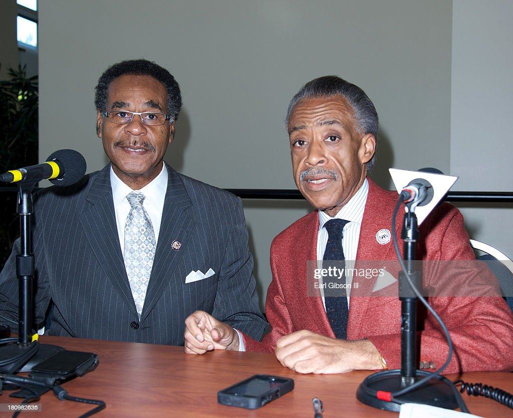 Rep. Emanuel Cleaver II and Al Sharpton pose for a photo on Day 1 of the 43rd Annual Legislative Conference on September 18, 2013 in Washington, DC.