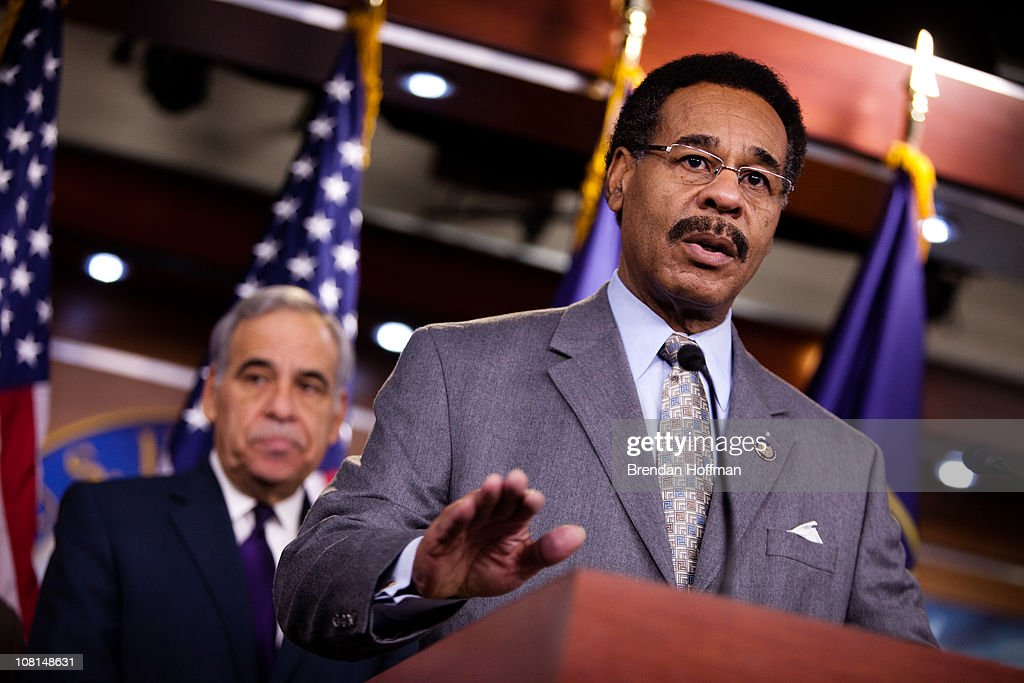 Rep. <a gi-track='captionPersonalityLinkClicked' href=/galleries/search?phrase=Emanuel+Cleaver&family=editorial&specificpeople=754349 ng-click='$event.stopPropagation()'>Emanuel Cleaver</a> (D-MO) speaks at a news conference on the impact of a health care repeal on minority communities on Capitol Hill on January 19, 2011 in Washington, DC. The House plans to vote to repeal parts of the health care reform legislation later today.