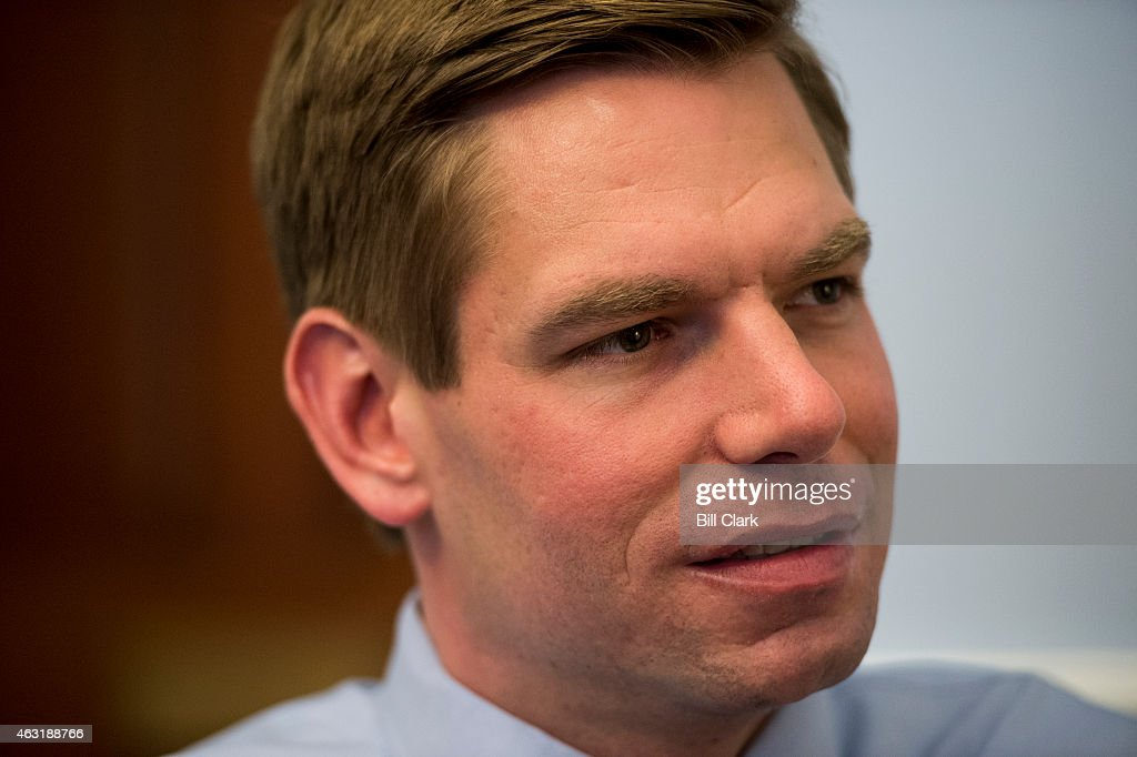 Rep Eric Swalwell DCalif speaks with Roll Call in his Capitol Hill office on Wednesday Feb 11 2015