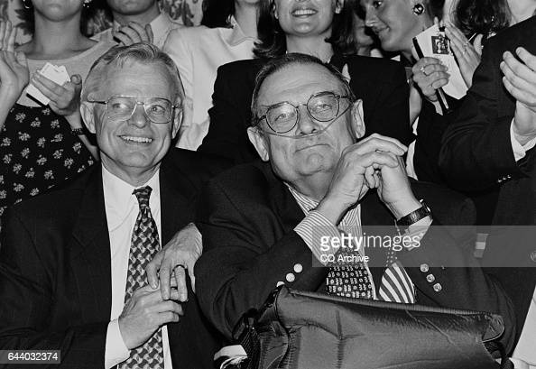 Rep Frank Cremeans ROhio and Rep Bill Emerson RMo at Dole's farewell rally June 13 1996 'n