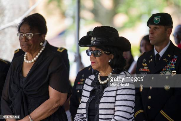 US Rep Frederica Wilson attends the burial service of Sgt La David Johnson at Fred Hunter's Hollywood Memorial Gardens in Hollywood Fla on Saturday...