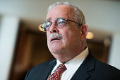 Rep Gerry Connolly DVa speaks with a reporter after a meeting with House Democrats in the Capitol Visitor Center June 22 2016 Democratic presidential...