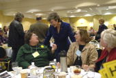 Rep Heather Wilson RNM talks with Josephine White left of Santa Fe and Carolyn Freeman of Bernalillo at the state republican convention at the...