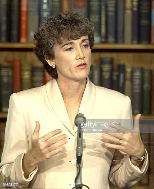 Rep Heather Wilson RNM tells reporters in Washington 17 December that she has decided to vote yes on all four articles of impeachment against US...